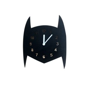 Wooden batman wall clock