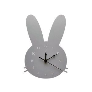 Wooden bunny wall clock