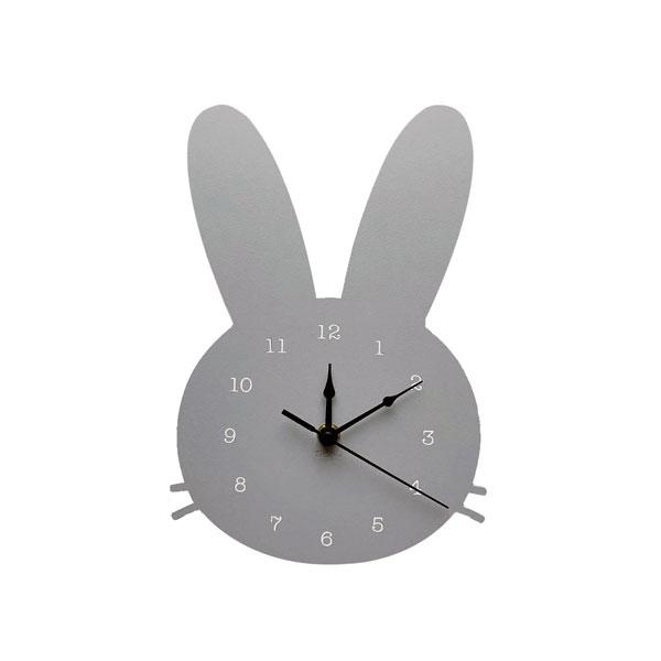 Wooden Wall Clock Bunny