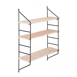 Triple wooden shelf