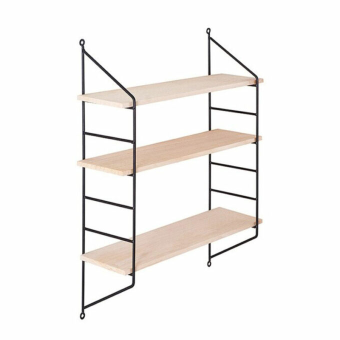 Triple wooden shelf